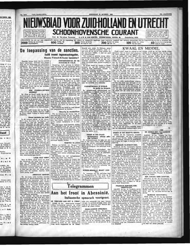 Schoonhovensche Courant 1935-10-30