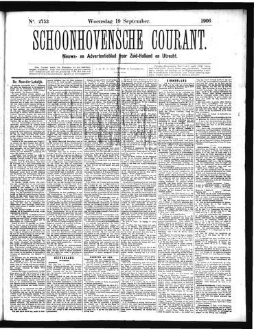 Schoonhovensche Courant 1906-09-19