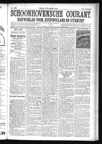 Schoonhovensche Courant 1925-11-27