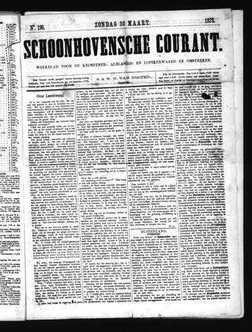 Schoonhovensche Courant 1873-03-30