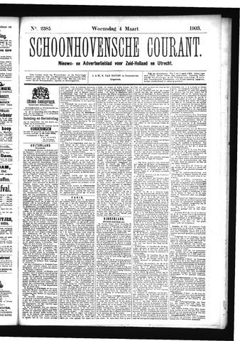 Schoonhovensche Courant 1903-03-04