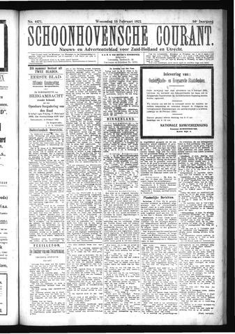 Schoonhovensche Courant 1922-02-15
