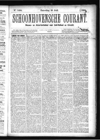Schoonhovensche Courant 1894-07-28