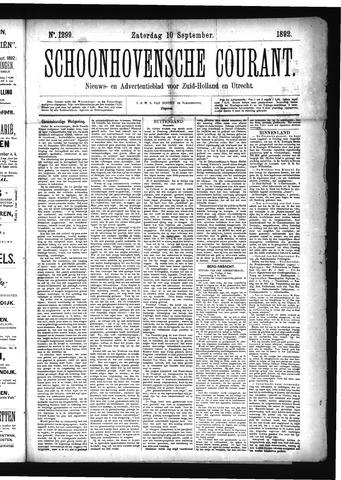 Schoonhovensche Courant 1892-09-10