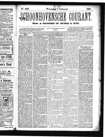 Schoonhovensche Courant 1900-02-07
