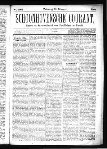 Schoonhovensche Courant 1909-02-13