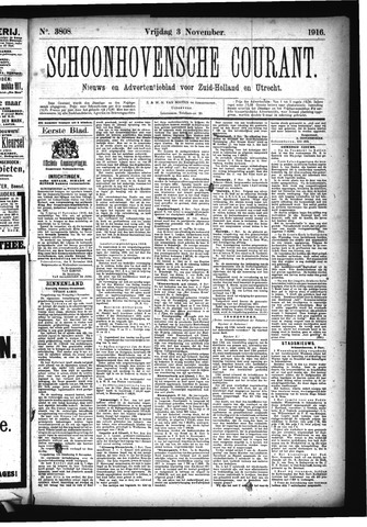 Schoonhovensche Courant 1916-11-03