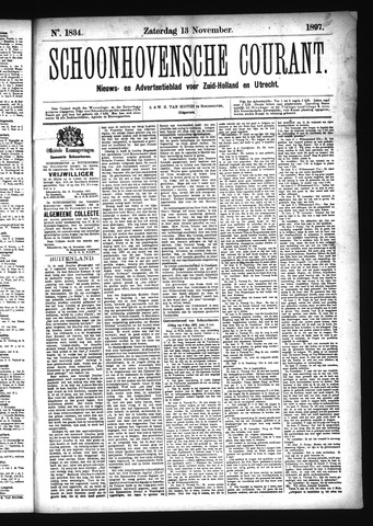 Schoonhovensche Courant 1897-11-13
