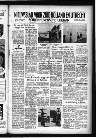 Schoonhovensche Courant 1956-08-29