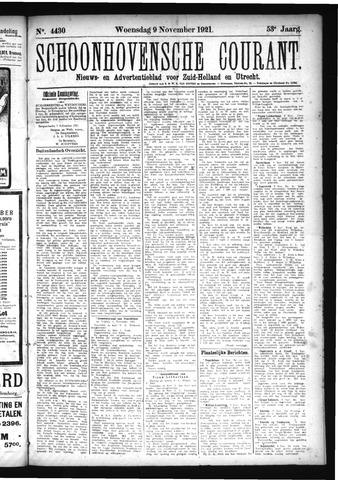 Schoonhovensche Courant 1921-11-09