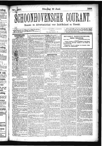 Schoonhovensche Courant 1919-06-10