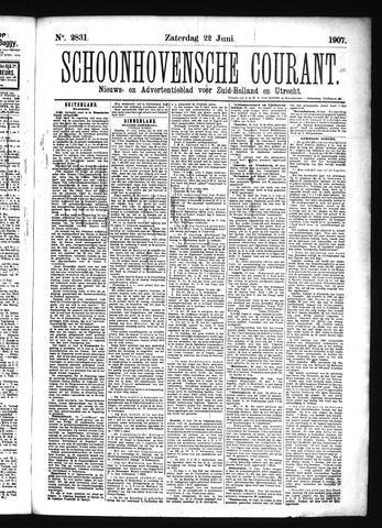 Schoonhovensche Courant 1907-06-22