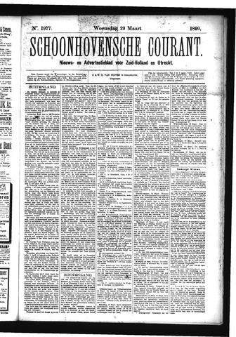 Schoonhovensche Courant 1899-03-29