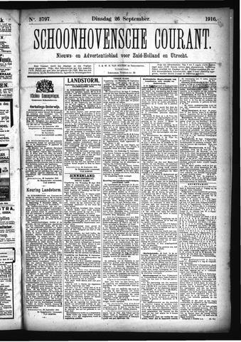 Schoonhovensche Courant 1916-09-26