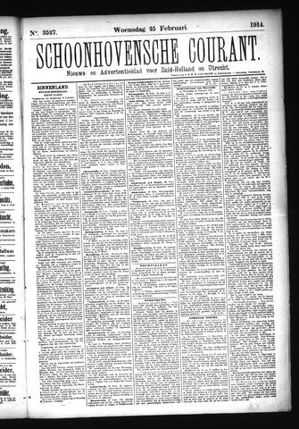 Schoonhovensche Courant 1914-02-25