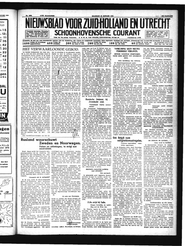Schoonhovensche Courant 1940-01-15