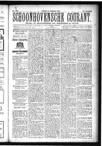 Schoonhovensche Courant 1922-08-25