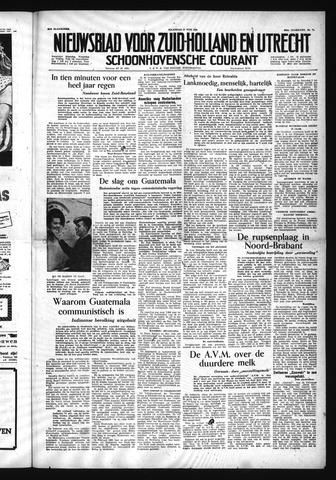 Schoonhovensche Courant 1954-06-21