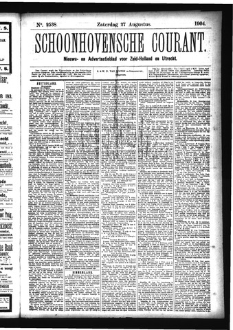 Schoonhovensche Courant 1904-08-27