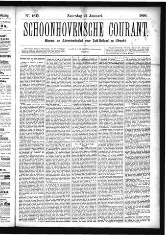 Schoonhovensche Courant 1896-01-25
