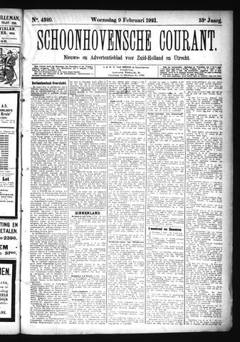 Schoonhovensche Courant 1921-02-09