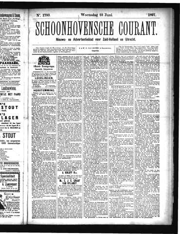 Schoonhovensche Courant 1897-06-23