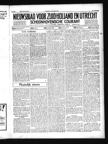 Schoonhovensche Courant 1934-11-05