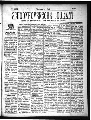 Schoonhovensche Courant 1915-05-04