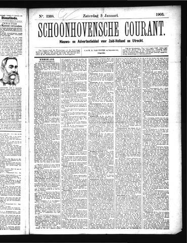 Schoonhovensche Courant 1903-01-03