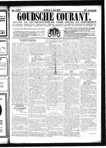 Goudsche Courant 1930-07-11