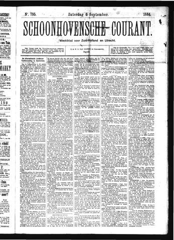 Schoonhovensche Courant 1884-09-06
