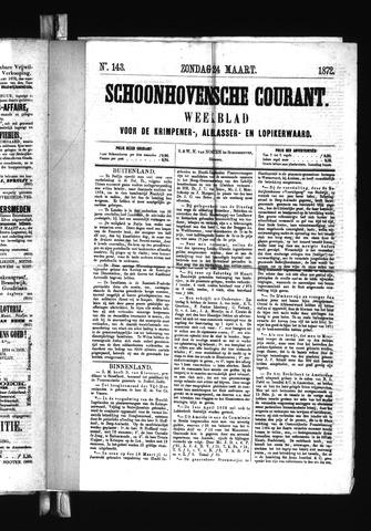 Schoonhovensche Courant 1872-03-24