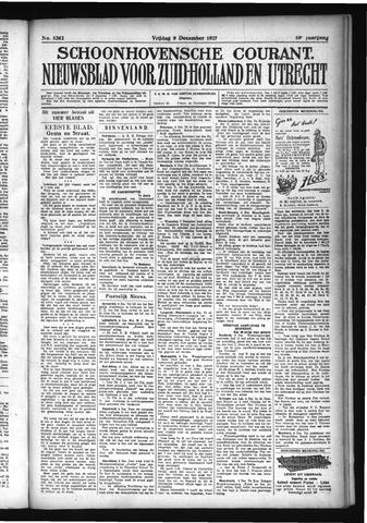 Schoonhovensche Courant 1927-12-09