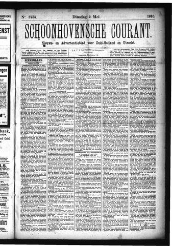 Schoonhovensche Courant 1916-05-02