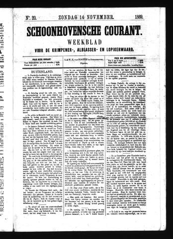Schoonhovensche Courant 1869-11-14