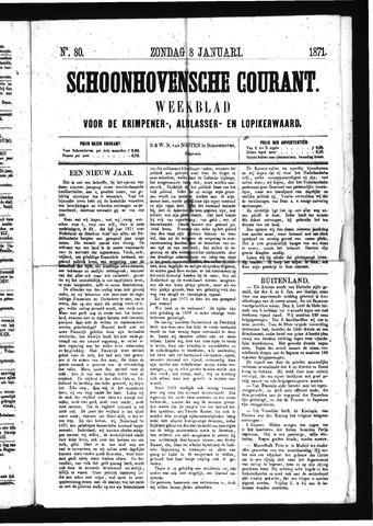 Schoonhovensche Courant 1871-01-08