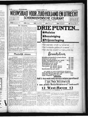 Schoonhovensche Courant 1934-08-27