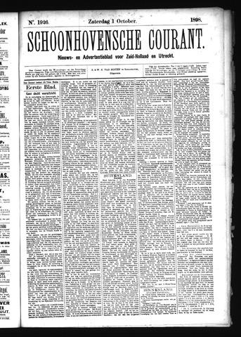 Schoonhovensche Courant 1898-10-01