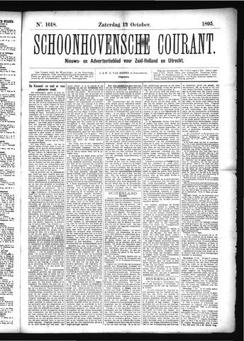 Schoonhovensche Courant 1895-10-12