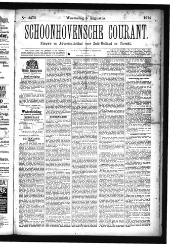 Schoonhovensche Courant 1914-08-05