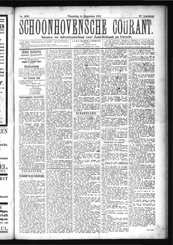Schoonhovensche Courant 1922-08-14