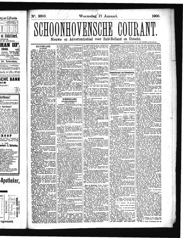 Schoonhovensche Courant 1906-01-17