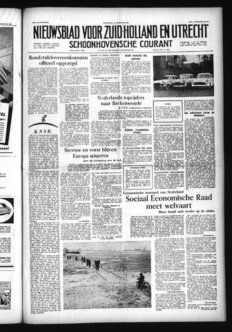 Schoonhovensche Courant 1956-02-22