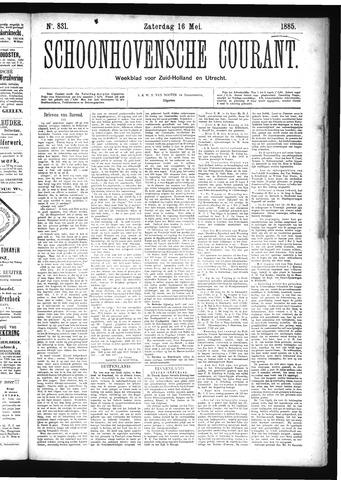 Schoonhovensche Courant 1885-05-16