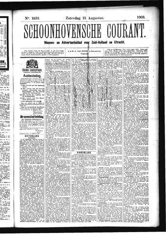Schoonhovensche Courant 1903-08-15
