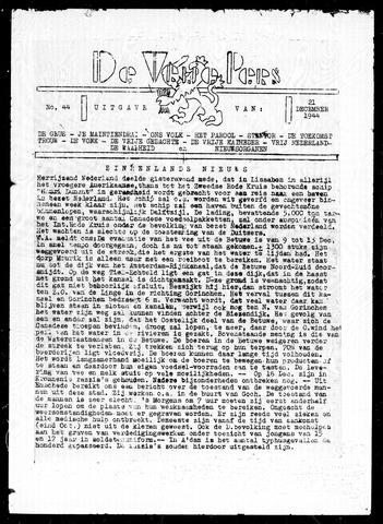 De Vrije Pers 1944-12-21