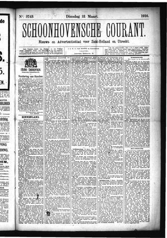 Schoonhovensche Courant 1916-03-21