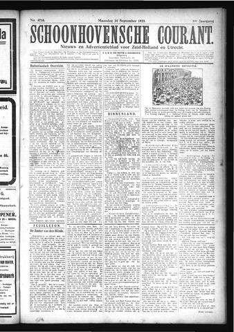Schoonhovensche Courant 1923-09-24