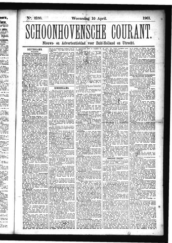 Schoonhovensche Courant 1901-04-10