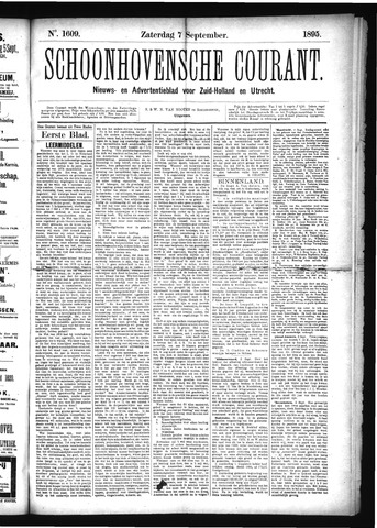 Schoonhovensche Courant 1895-09-07